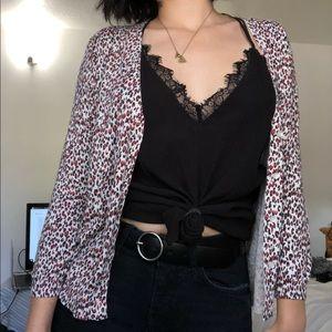 🎄NWT animal Leopard print Zara Cardigan size med
